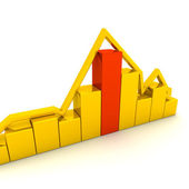 Golden graph — Stock Photo