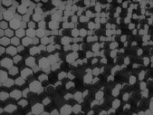 Black hexagons — Stock Photo