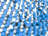 Blue hexagons — Stock Photo
