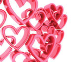 Background with soft hearts — Stock Photo
