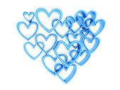 Blue heart — Stock Photo