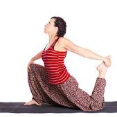 Yoga excercising — Stock Photo
