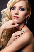 Beautiful curly blonde — Stock Photo