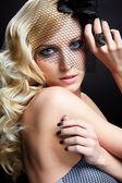 Bella bionda in velo — Foto Stock