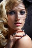 Beautiful blonde in veil — Stock Photo