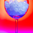 Glass with ice — Stock Photo