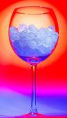 Szklanki z lodem — Zdjęcie stockowe