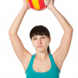 Woman with ball — Stock Photo