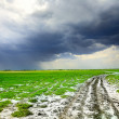 Stormy road - Stock Photo