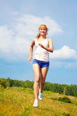Running girl — Stock Photo