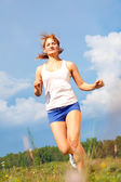 Running girl — Stockfoto