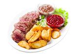 свежего жареного мяса — Стоковое фото