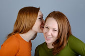 Portrait of two young woman — Stockfoto