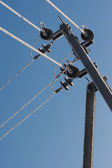 Frost crystals on Power Lines — Foto Stock