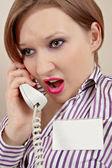 Gerente con teléfono — Foto de Stock