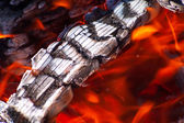 Background with fire — Stock Photo