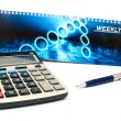 Calculator and a pen — Stock Photo #3946362