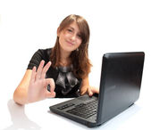 Beautiful Girl in the office — Stock Photo