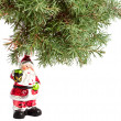 Christmas tree with Santa Claus — Stock Photo