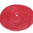 Bright red bead Christmas garland - Photo