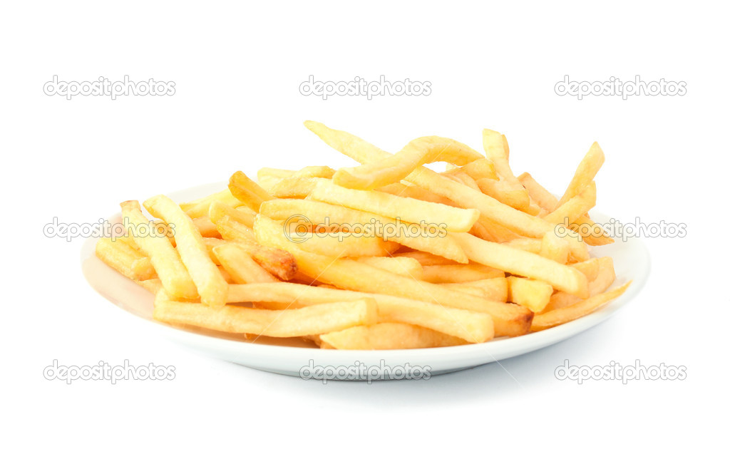 French fries on a white background — Stock Photo #4910336