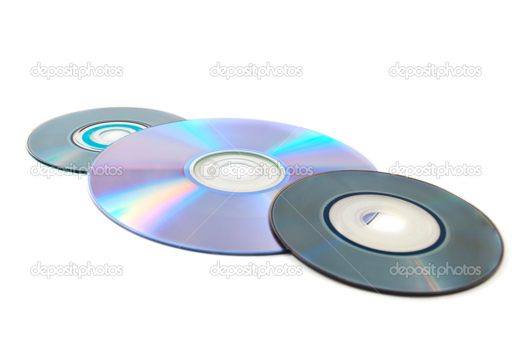 Computer disks on a white background — Stock Photo #5097636