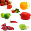 Set of fruits and vegetables — Stock Photo