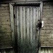 Vintage wooden door - Stock Photo