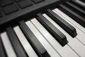 Black & white piano keys — Stock Photo