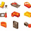 Vector furniture icons — Stock Vector