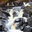 Mountain waterfall. fast stream water — Stock Photo