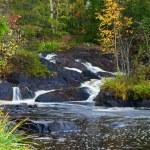 Mountain waterfall. fast stream water — Stock Photo #3924836