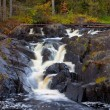Mountain waterfall. fast stream water. autumn landscape — Stock Photo #3926586