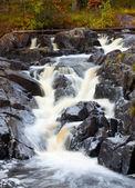 Mountain waterfall. fast stream water — Stock Photo