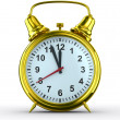 Alarm clock on white background. Isolated 3D image — Stok fotoğraf