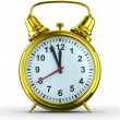 Alarm clock on white background. Isolated 3D image — Foto de Stock