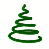 Christmas tree on white. Isolated 3d image — Stock Photo
