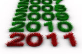 2010 year from grass. Isolated 3D image — Foto Stock