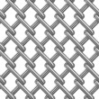 Seamless chainlink fence on white. Isolated 3D image — Stock Photo