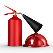 Fire extinguisher on white background. Isolated 3D image — Stock Photo