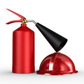 Fire extinguisher on white background. Isolated 3D image — Stock Photo