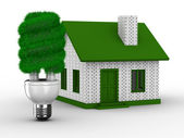 Power efficiency of house. Isolated 3D image — Stock Photo