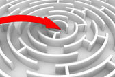 Bewegings richting tot succes. geïsoleerde 3d-beeld — Foto de Stock