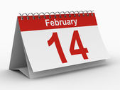 14 february calendar on white background. Isolated 3D image — Stock Photo