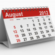 2012 year calendar. August. Isolated 3D image - Stok fotoğraf