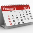 2012 year calendar. February. Isolated 3D image — Stock Photo