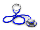 Stethoscope on a white background. Isolated 3D image — Stock Photo