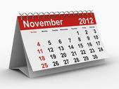 2012 year calendar. November. Isolated 3D image — Stock Photo
