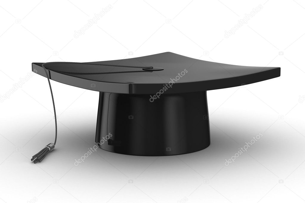 Graduation. Isolated 3D image on white background — Stock Photo #4622410