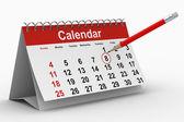 Calendar on white background. Isolated 3D image — Stock Photo